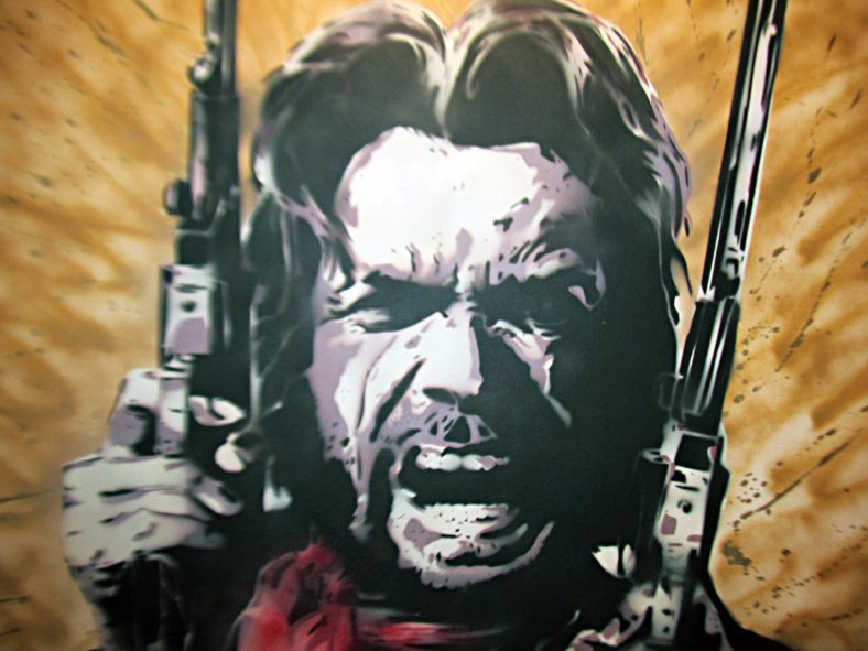 dirty harry clint eastwood spray paint stencil art