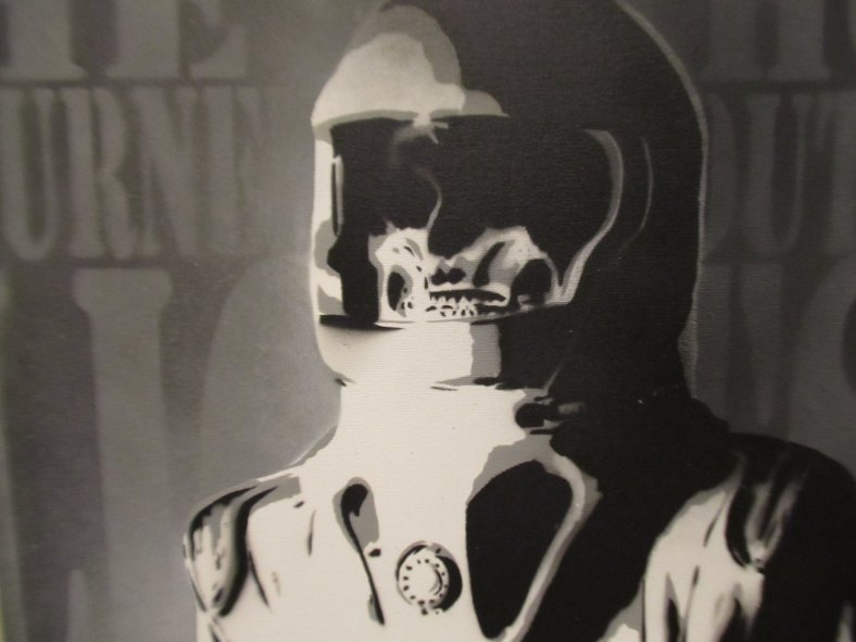 Doctor Who - Astronaut stencil art
