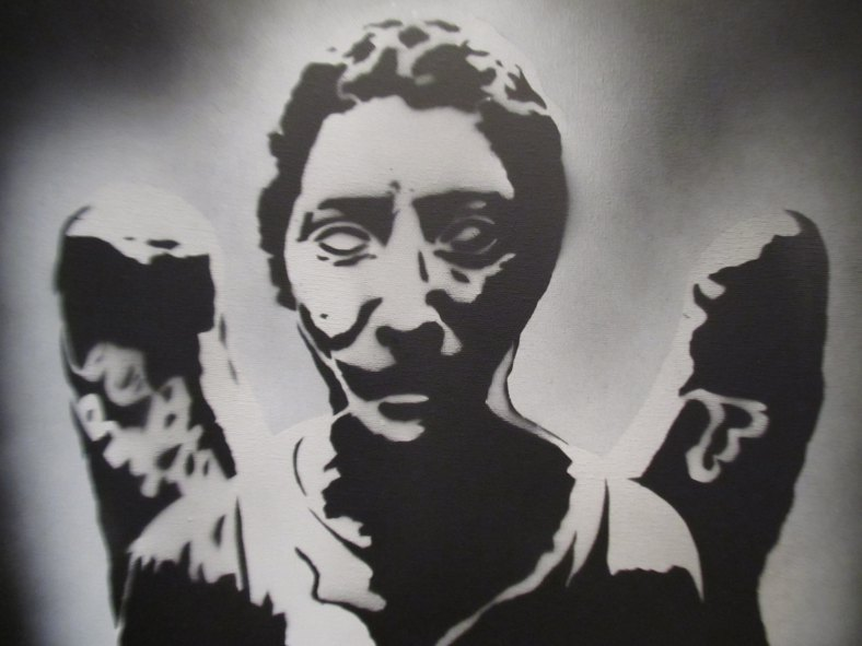 Doctor Who - Weeping Angel - stencil art