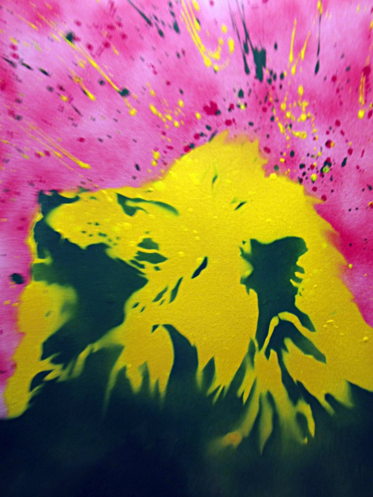 Happy Rasta Lion - stencil art