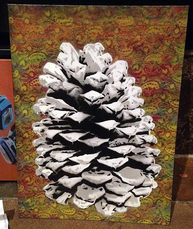 poly-spray-paint-stencil-art-pine-cone